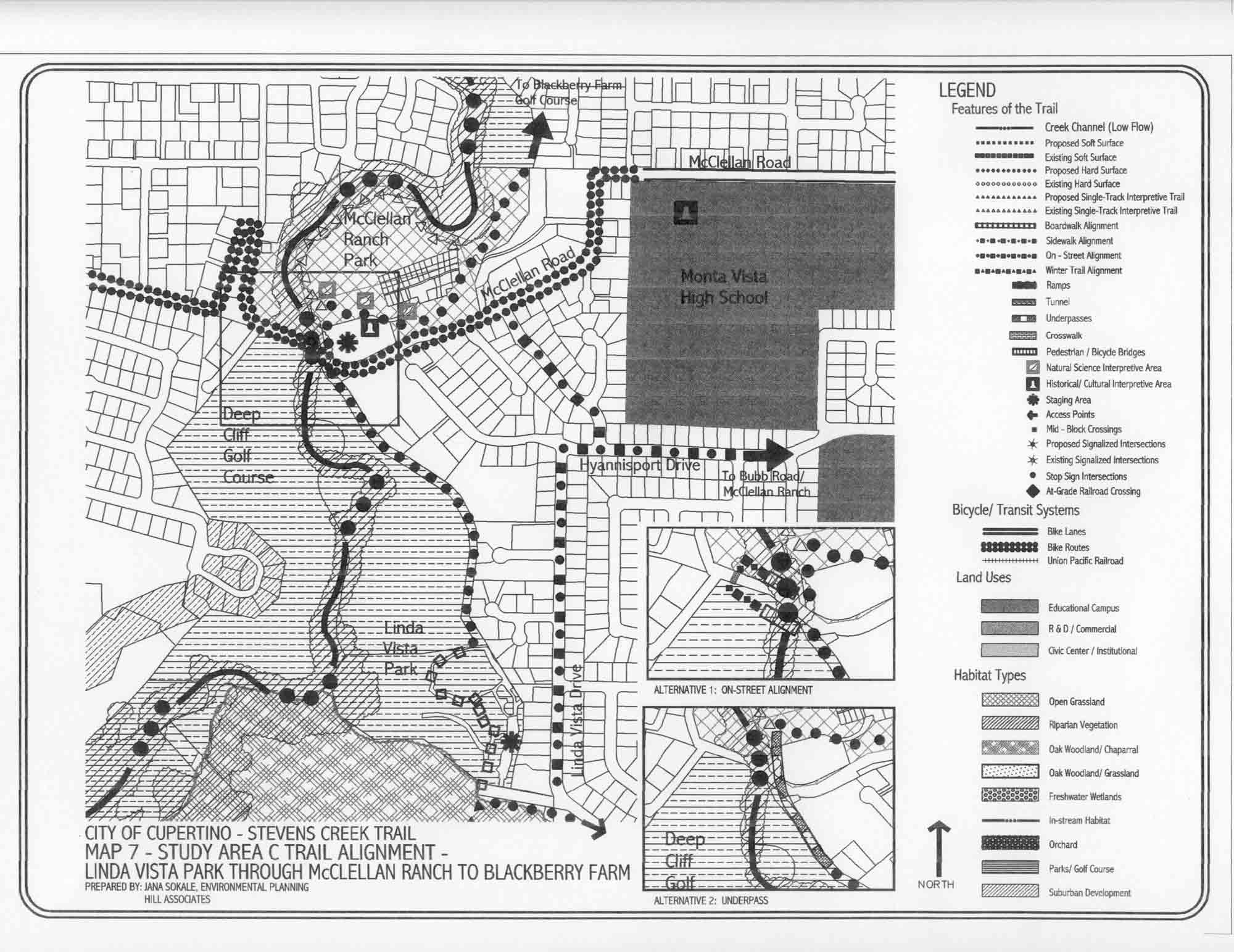 cupertino 2002 stevens creek trail feasibility study documents